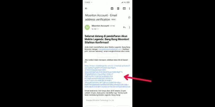 Email Verifikasi Akun Moonton